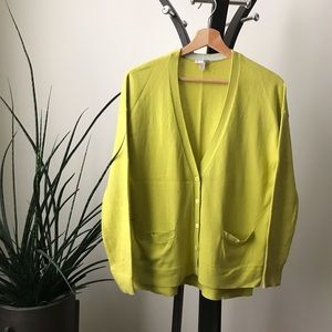 Silk blend citron cardigan by GAP